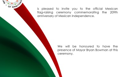 Mexican flag-raising ceremony – September 13 2019