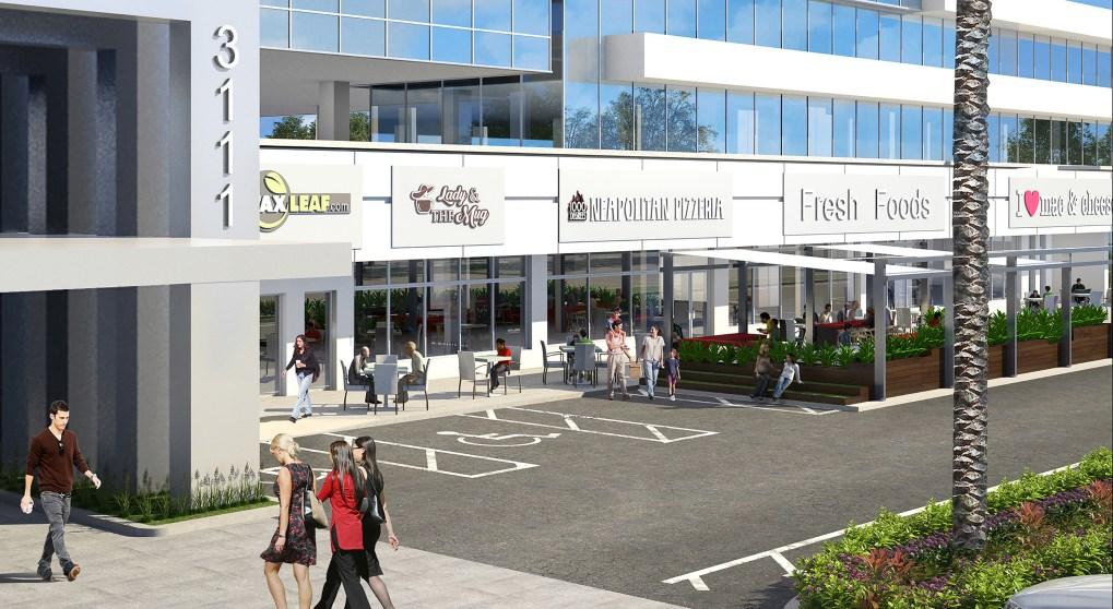 University Place Ground Floor Retail Rendering