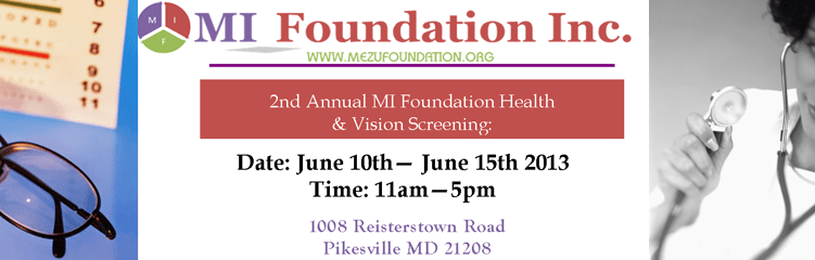 2013 MIF Vision & Health Fair – Baltimore, MD USA