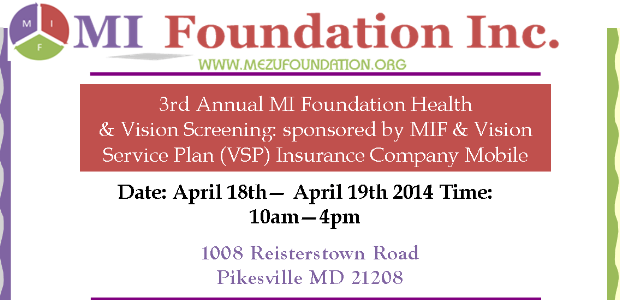 2014 MIF Vision & Health Fair – Baltimore, MD USA