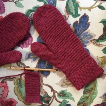 crochet slip stitch mittens