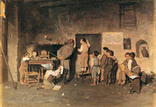 """Giuseppe Costantini """"La scuola del villaggio"""""""