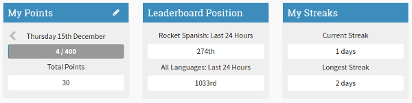 Rocket Languages Streaks