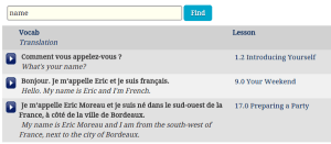 Rocket French phrase finder