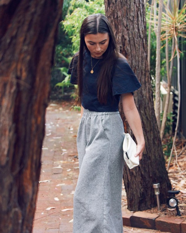 Theo the Label Deadstock Linen Culottes and Ethical Top