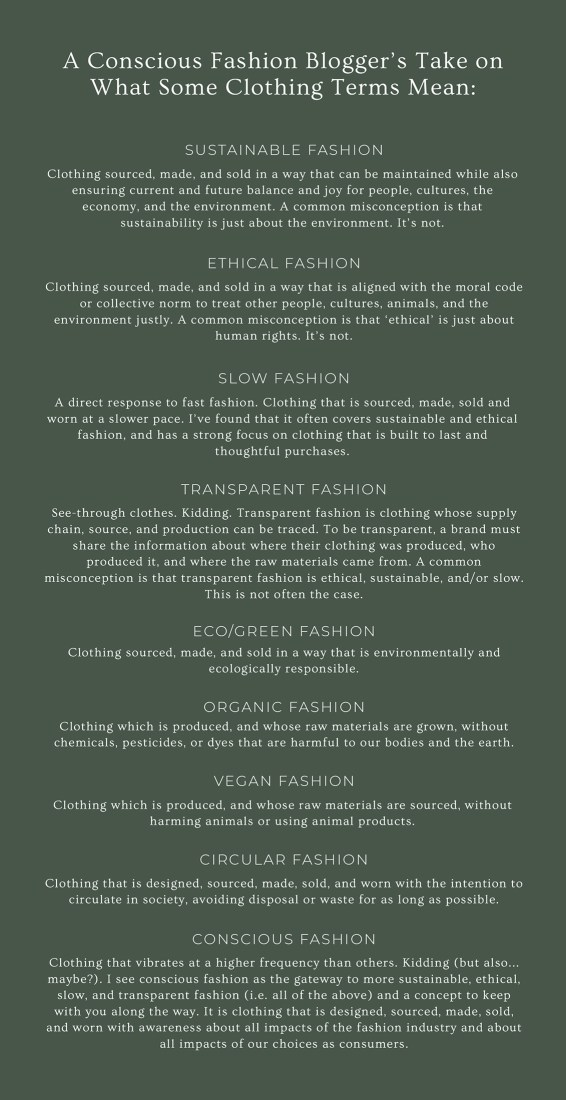Conscious Fashion Terms
