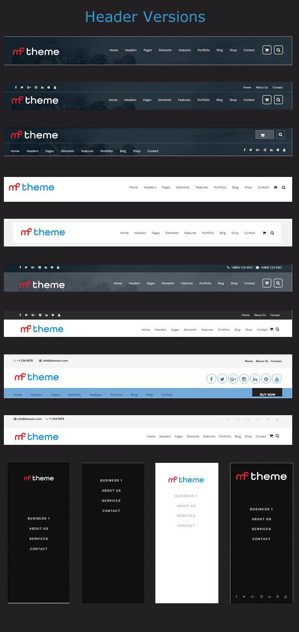 MF - Premium WordPress Theme - Headers