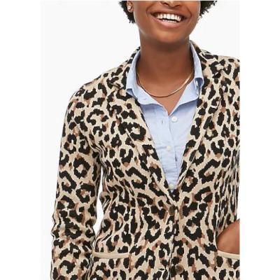 Leopard Sweater Blazer