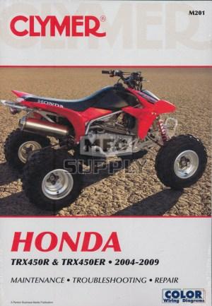 CM201  0409 Honda TRX450R  TRX450ER Repair