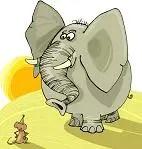 elephants make deep sounds and mice make high-pitched sounds