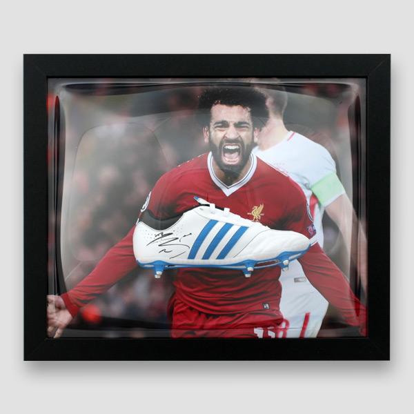 Mo-Salah-Signed-and-Framed-football-boot