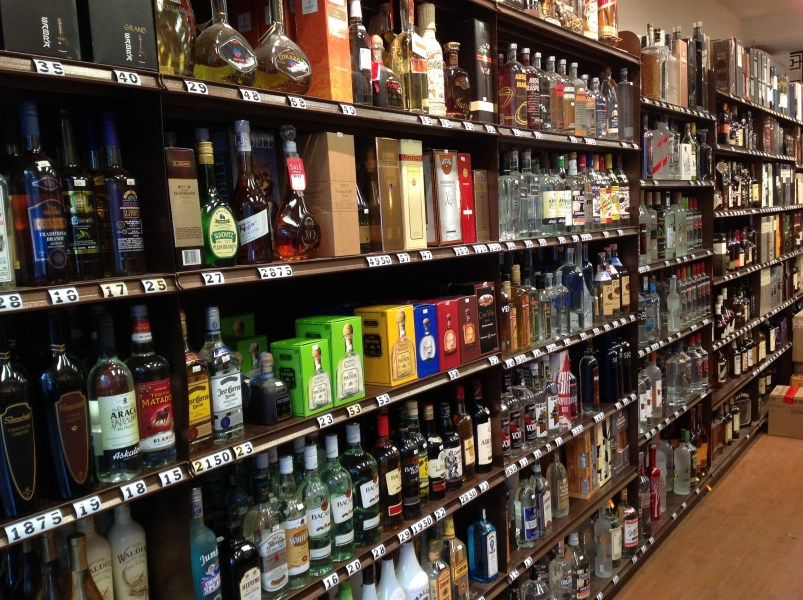 Liquor store gondola shelving   M  Fried Store Fixtures   The retail     Liquor store gondola shelving