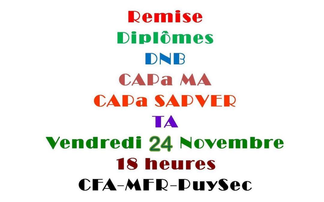 Diplômes DNB – CAP – TA 2017
