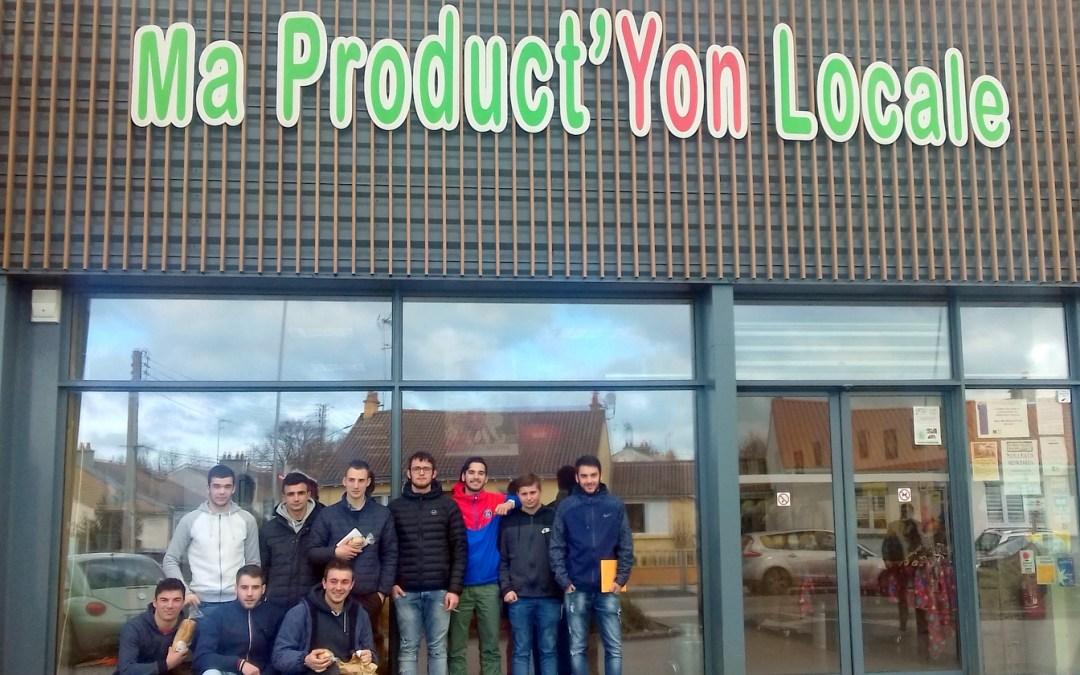 Ma «Product'Yon» : Les Techniciens Agricoles visitent le magasin de Producteurs