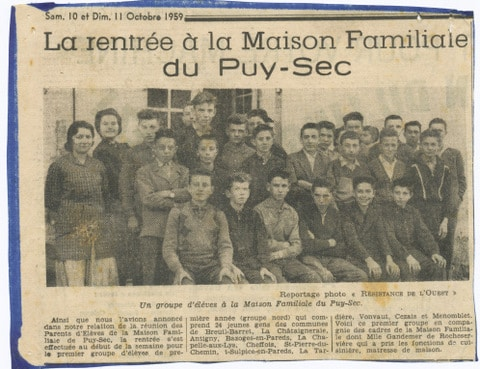 Archives anciens élèves mfr puy-sec 1953 1 rentrées