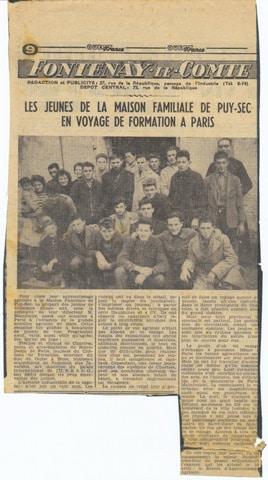 Archives anciens élèves mfr puy-sec 1959 3 rentrées