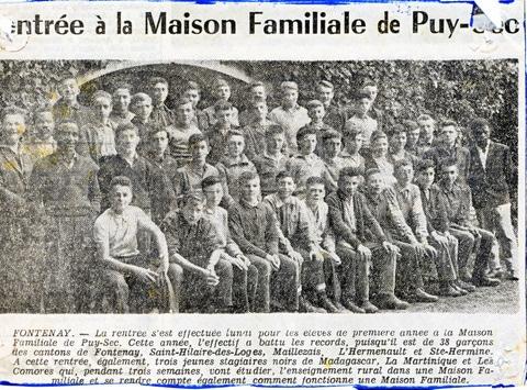Archives anciens élèves mfr puy-sec 1960 Article 5 rentrées
