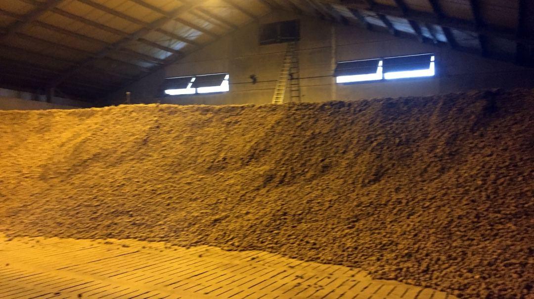 Stockage agricole ferme Francotte en Belgique
