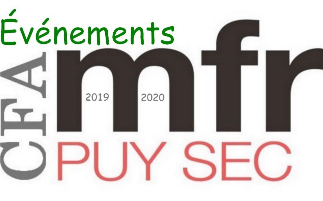 Agenda des événements à retenir 2019/2020