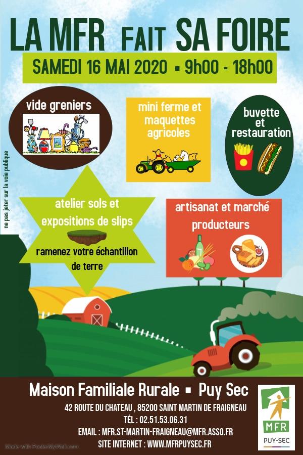 Affiche La MFR fait sa foire à Puy Sec