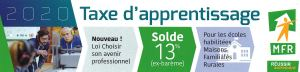Marque page recto Taxe apprentissage MFR Puy-Sec