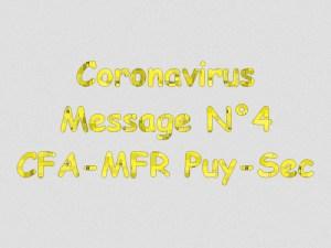 Message 4 coronavirus mfrpuysec confinement