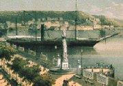Alameda de Paula. Grabado de F.Miahle, 1885