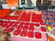 Yes, these Strawberries were very red and perfect