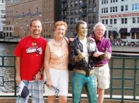 2 AMGBA Officers (Frank Ochal, Margie Springer & Bruce Magers with Fonzie) in Milwaukee