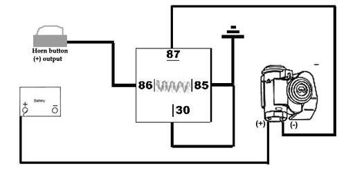 air horn relay wiring question  mgb  gt forum  mg