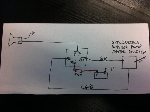 air horn wiring diagram  is this right pic  mgb  gt