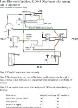 Mgb Distributor Wiring  Owner Manual & Wiring Diagram