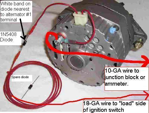 gm cs130 alternator wiring diagram wiring diagram one wire alternator wiring diagram cs130 diagrams