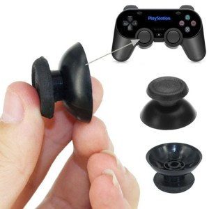 2 PCS Plastic Hat Key Protector Thumb Grips Joystick Caps for Sony PS4