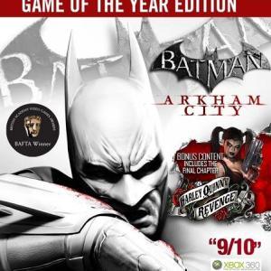 Xbox 360: Batman: Arkham City - Game Of The Year Edition
