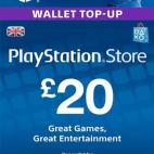 PS4: PlayStation Network Card (PSN) £20 (UK) (latauskoodi)