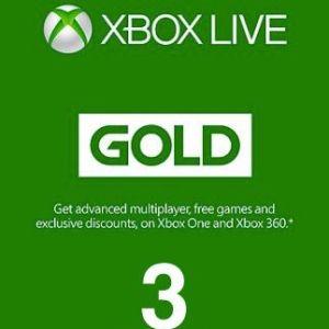 Xbox One: Xbox One: Xbox Live Gold 3 month (EU) (latauskoodi)