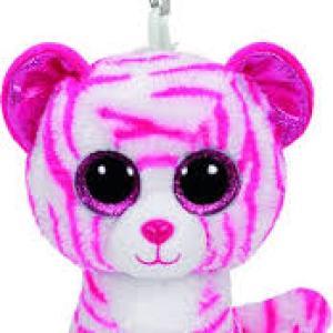 TY Beanie Boos ASIA white tiger clip