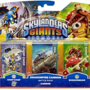 PS3: Skylanders Giants Figures - Battle Pack - Chop Chop  Shroom Boom & Cannon Piece (PS3  Xbox 360  Wii  WiiU  3DS)