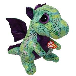 TY Beanie Boos Cinder green dragon med