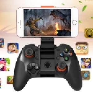 RKGAME 4th Wireless Bluetooth Gamepad Game Controller, For Android & iOS & PC (Black)