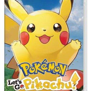 Switch: Pokémon Lets Go  Pikachu!