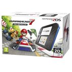 NDS: Nintendo 2DS Console with Pre-installed Mario Kart 7 (Black/Blue) (Nintendo 2DS)