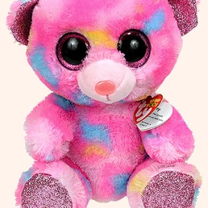 TY Beanie Boos Franky pink multicolored  bear med