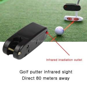 Golf putter training laser sight accessory