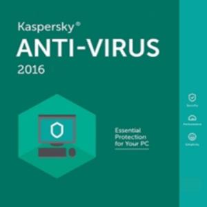 PC: Kaspersky Anti-Virus 2016 1 Year 3 PC (latauskoodi)
