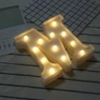 Alphabet English Letter M Shape Decorative Light, Dry Battery Powered Warm White Standing Hanging LED Holiday Light