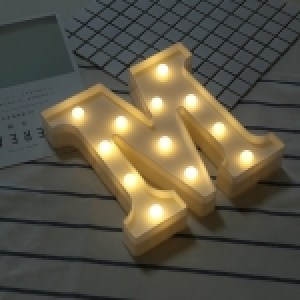 Alphabet English Letter M Shape Decorative Light, Dry Battery Powered Warm White Standing Hanging LED Holiday Light