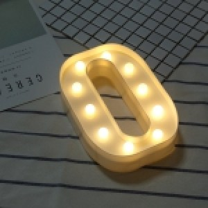 Alphabet English Letter O Shape Decorative Light, Dry Battery Powered Warm White Standing Hanging LED Holiday Light