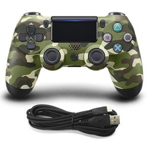PS4: (Camo Green)Wired Game Controller for Sony PS4 (Camo Green)